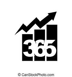 黒, アイコン, ロゴ, デザイン, 無限点, イラストビジネス, バー, 365