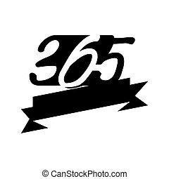 黒, アイコン, 空, ロゴ, デザイン, 無限点, イラスト, リボン, 365