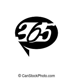 黒, アイコン, balloon, ロゴ, 無限点, デザイン, コミュニケーション, 365