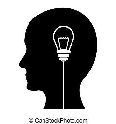 黒, イメージ, デザイン, 考え, 考え