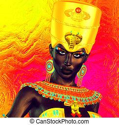 黒, エジプト人, 王女