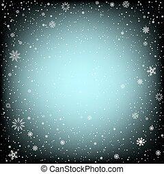 黒, クリスマス, 背景, 雪