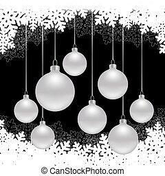 黒, クリスマス, 背景