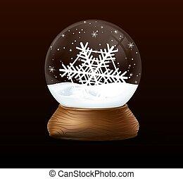黒, クリスマス, 雪, バックグラウンド。, 地球