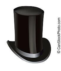 黒, シリンダー, 帽子