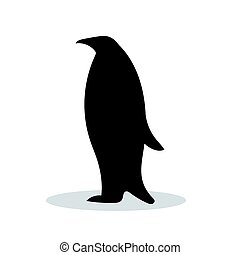 黒, シルエット, 鳥, 動物, ペンギン
