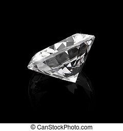 黒, ダイヤモンド, 光沢がある, 背景