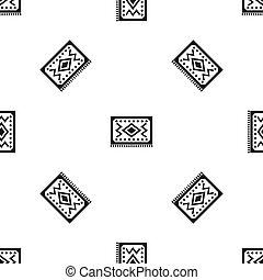 黒, トルコ語, カーペット, パターン, seamless
