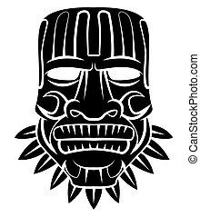 黒, トーテム, マスク