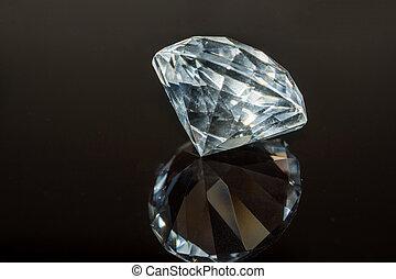 黒, バックグラウンド。, 贅沢, ダイヤモンド