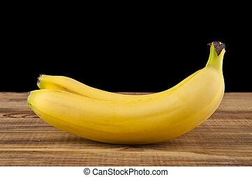 黒, バナナ, 背景