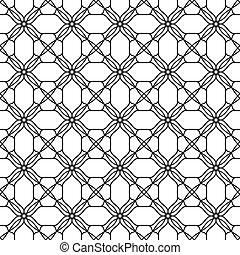 黒, パターン, seamless, 白