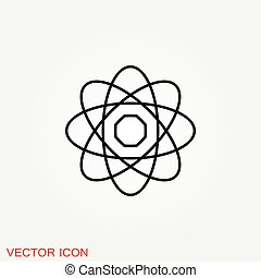 黒, フィクション, 原子, 科学, アイコン, アイコン