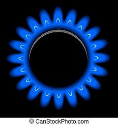 黒, ベクトル, ガス, 炎