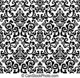 黒, ベクトル, シルエット, seamless, パターン