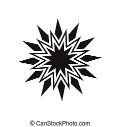 黒, ベクトル, 星, アイコン