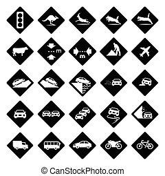 黒, 三角定規, 道 印