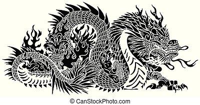 黒, 中国のドラゴン