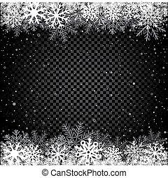 黒, 冬, 背景, 雪