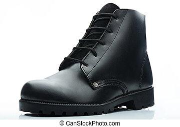 黒, 半長靴