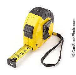 黒, 単一, テープ, 黄色, 測定