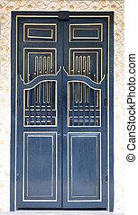 黒, 古代, 木製の戸