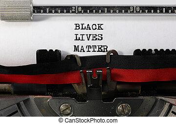 黒, 問題, テキスト, 生命, タイプライター