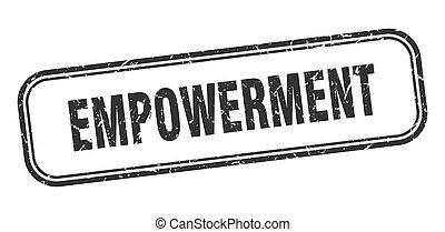 黒, 広場, stamp., 印, empowerment, グランジ