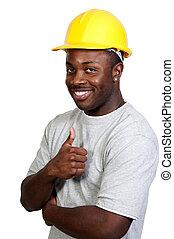 黒, 建築作業員