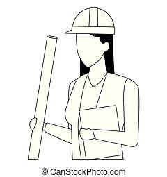 黒, 建築家, 白, 労働者, avatar