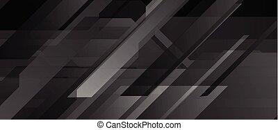 黒, 抽象的, 技術, 幾何学的, 背景