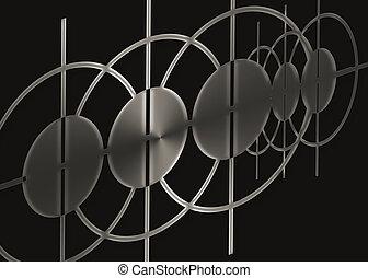 黒, 抽象的, 金属, 背景