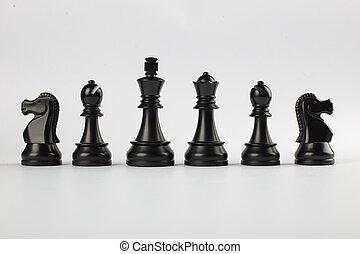 黒, 数字, 白, 隔離された, 背景, 強力