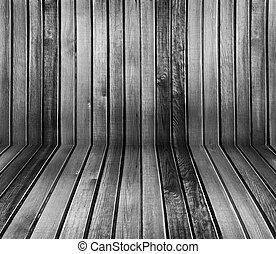 黒, 木製である, 型, 内部, 白