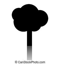 黒, 木, アイコン