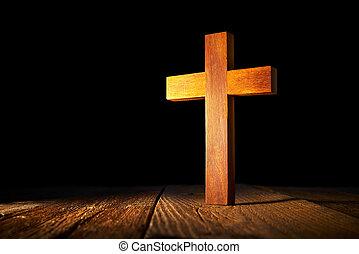 黒, 木, キリスト教徒, 交差点, 背景