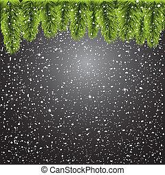 黒, 木, クリスマス, 背景