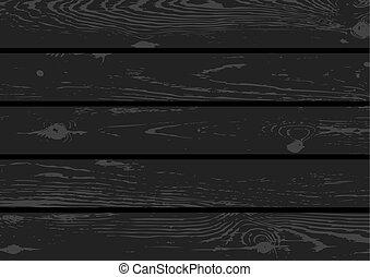 黒, 木, 手ざわり, 背景, デッキ
