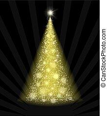 黒, 木, 背景, 黄色, クリスマス