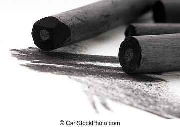 黒, 汚れ, 木炭, artist's