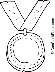 黒, 白, メダル, 漫画