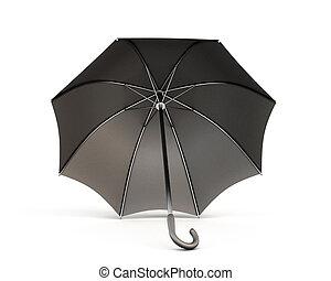 黒, 白, 傘, 背景
