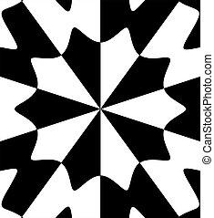 黒, 白, 抽象的