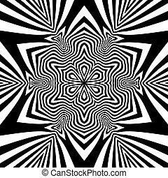黒, 白, pattern., 幾何学的