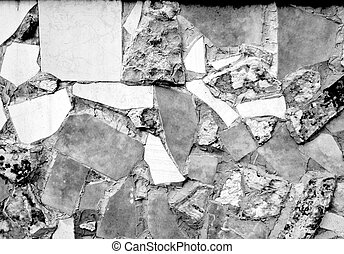 黒, 白, tiles-stone, 背景
