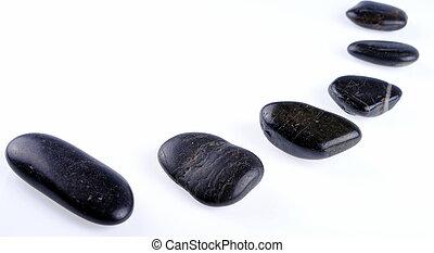 黒, 禅, 石, 白, 背景, 柔らかい, 影