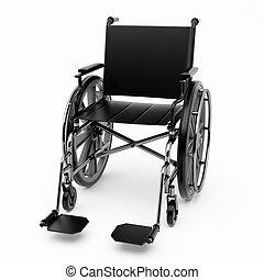 黒, 車椅子