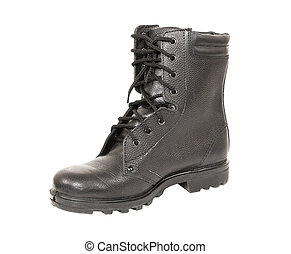 黒, 軍隊, ブーツ