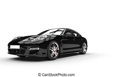 黒, 速い, 自動車, スタジオの 打撃