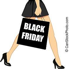 黒, 金曜日, 買い物